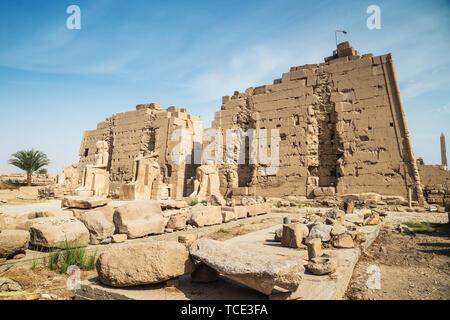 Karnak Temple, Karnak, Luxor, Egypt - Stock Image