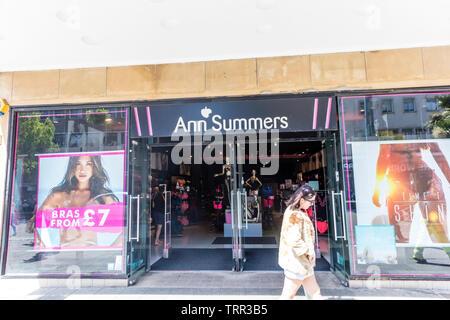 Ann Summers ladies underwear shop, Plymouth, Devon, UK, England, Ann Summers sex toy shop, Ann Summers store, Ann summers shop, Ann summers sign, sign - Stock Image