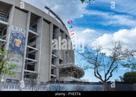 Outside the Camp Nou football stadium in Barcelona - Stock Image