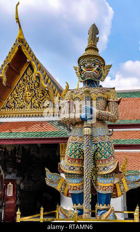 Statue in the Grand Palace in Bangkok, Thailand - Stock Image