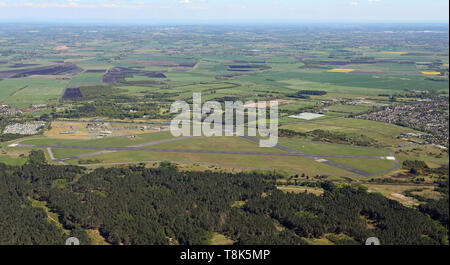 aerial view of Royal Air Force Woodvale airfield near, Lancashire - Stock Image