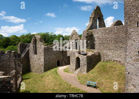 Oystermouth Castle, Wales, UK - Stock Image