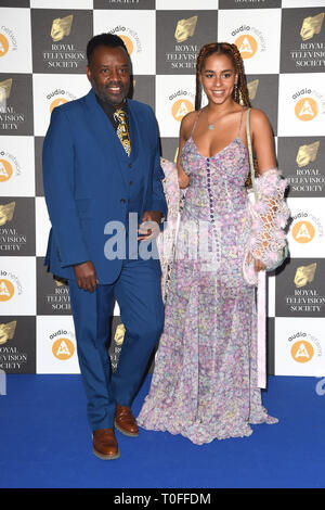 LONDON, UK. March 19, 2019: David Grant arriving for the Royal Television Society Awards 2019 at the Grosvenor House Hotel, London. Picture: Steve Vas/Featureflash Credit: Paul Smith/Alamy Live News - Stock Image