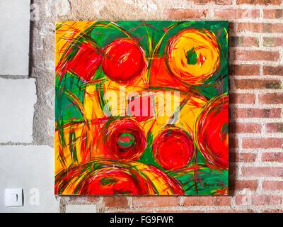 Acrylic painting of fruits / sweets by Ed Buziak. - Stock Image