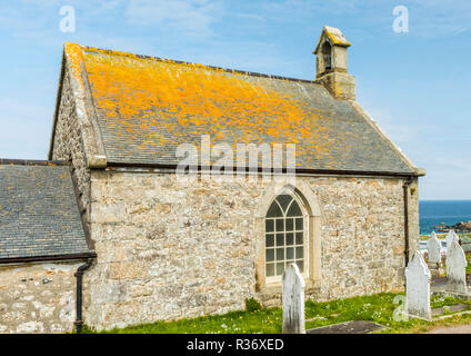 A mortuary chapel in Barnoon Cemetery, St Ives, Cornwall - Stock Image