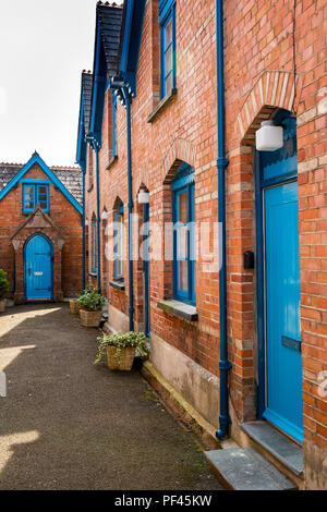 UK, Cornwall, Padstow, Middle Street Tredwen Court almshouses - Stock Image