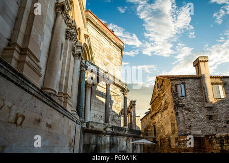 The ancient Catholic Cathedral of Saint Domnius, known locally as the Sveti Dujam in the Diocletian's Palace area of Split, Croatia. - Stock Image