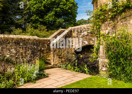 Walled garden and dovecote at Nymans Gardens, Sussex UK - Stock Image