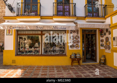 MARBELLA, ANDALUSIA / SPAIN - OCTOBER 07 2017: DECORATED HOUSE IN OLD PART OF THE CITY - Stock Image