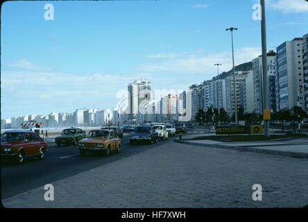 Street with high-rises in Rio de Janeiro, Brazil. - Stock Image