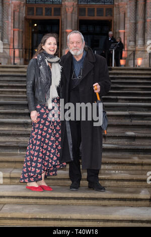 Holly Gilliam and Terry Gilliam attends The global premiere of Netflix's OUR PLANET on Friday 5 April 2019 at The Natural History Museum, London. . Picture by Julie Edwards. - Stock Image