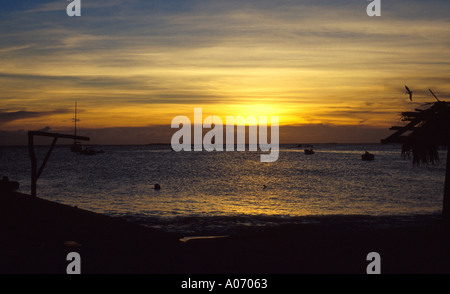 Sunset Los Rocos Islands Caribbean - Stock Image