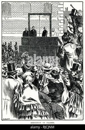 Execution of William Palmer, the Rugeley poisoner. - Stock Image