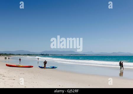 Byron Beach in Byron bay. - Stock Image