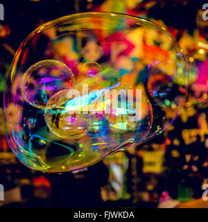 Bubbles Inside Balloon Bubble - Stock Image