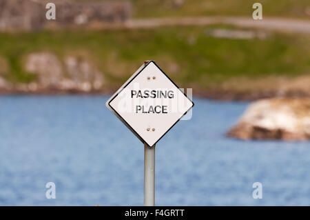 Passing place sign - Stock Image