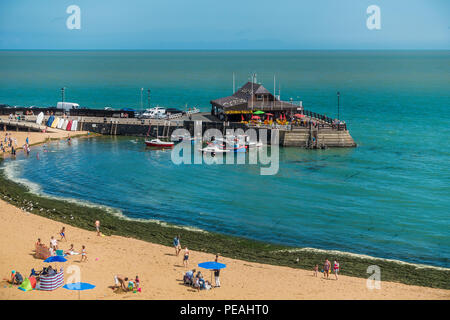 Broadstairs,Harbour,Viking Bay,Broadstairs,Thanet,Kent A popular seaside holiday destination - Stock Image