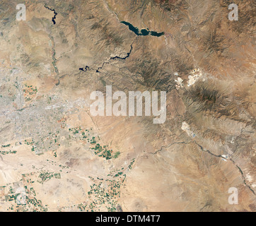 Phoenix, AZ as seen from space - Stock Image