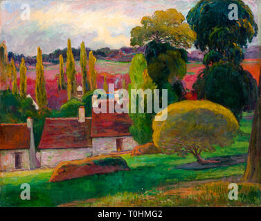 Paul Gauguin, A Farm in Brittany, painting, c. 1894 - Stock Image