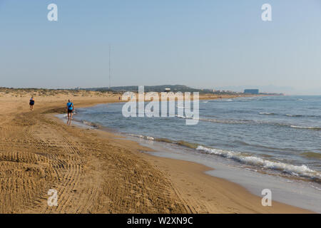 Beautiful natural beach Costa Blanca between Torre la Mata and Campomar Spain - Stock Image