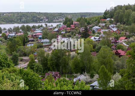 View of the Golden Ring town of Plyos on the Volga River, Russia - Stock Image