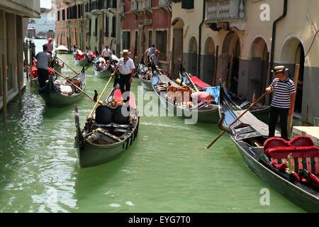 Gondola ride, Venice, Italy - Stock Image