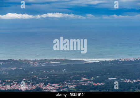 View on Portuguese countryside on a sunny day - Stock Image