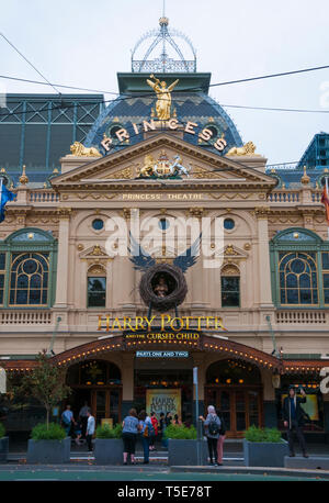The historic Princess' Theatre in Spring Street, Melbourne, showcasing the Australian premiere of 'Harry Potter and the Cursed Child' - Stock Image