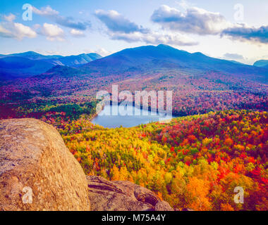Heart Lake from MT. Jo, Adirondack Park and Preserve, New York Near Lake Placid  Adirondack Mountains - Stock Image