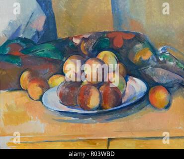 Still Life with Peaches, Paul Cezanne, 1885-1890, Zurich Kunsthaus, Zurich, Switzerland, Europe - Stock Image