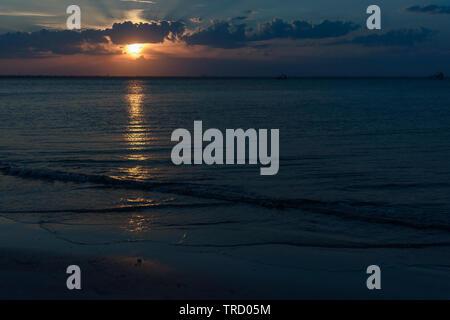 Sunset on Jekyll Island, Brunswick Georgia USA - Stock Image