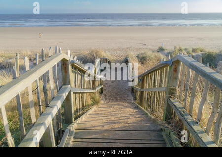 Path To The Beach - Stock Image
