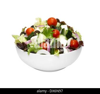 A bowl of Greek salad - Stock Image
