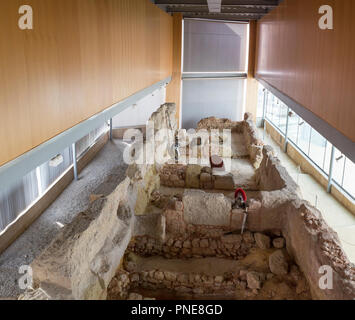 Catagena, Spain - September 14th, 2018: Punic Wall Interpretation Center - Stock Image