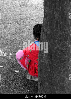 Tired Indian worker - Stock Image