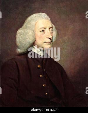 Joshua Reynolds, Dr John Armstrong, portrait painting, 1767 - Stock Image