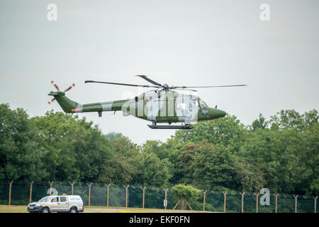 British Army Air Corps Lynx Helicopter RIAT 2014 - Stock Image