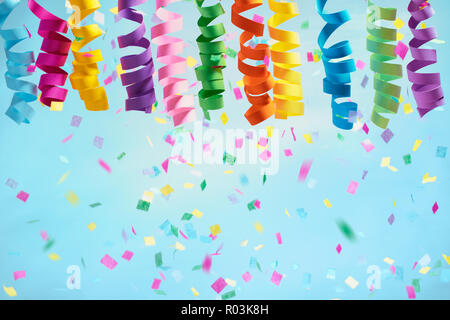 Confetti background for Christmas or birthdays - Stock Image