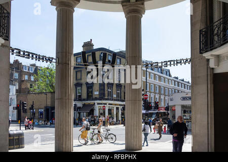 Entrance to Whiteleys Centre, Queensway, Bayswater, City of Westminster, Greater London, England, United Kingdom - Stock Image