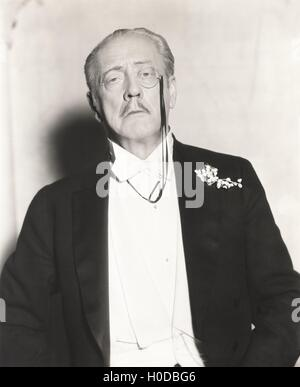 Distinguished man with monocle - Stock Image
