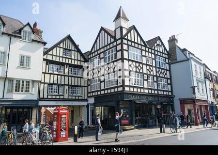 Black and white wood frame building Bridge Street Cambridge England 2019 - Stock Image