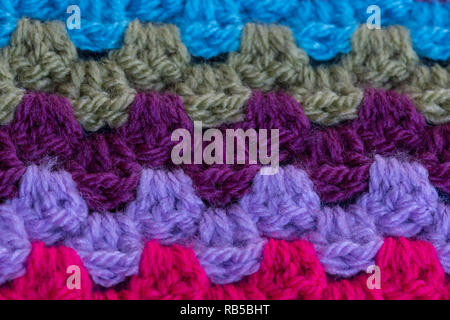 Crochet granny stitch - Stock Image