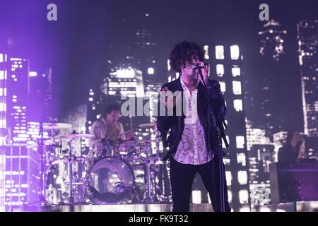 London, UK, 7th March 2016. The 1975 Live Performance at o2 Brixton Academy. Credit:  Robert Stainforth/Alamy Live - Stock Image