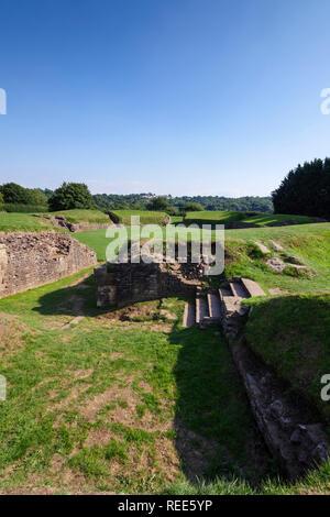 Roman Amphitheatre Caerleon Newport Gwent Wales - Stock Image