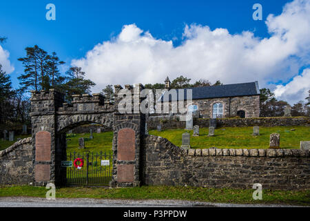 Acharacle Church and War Graves in the Highlands of Scotland - Stock Image
