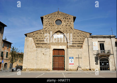 church of st augustine, colle di val d'elsa, tuscany, italy - Stock Image