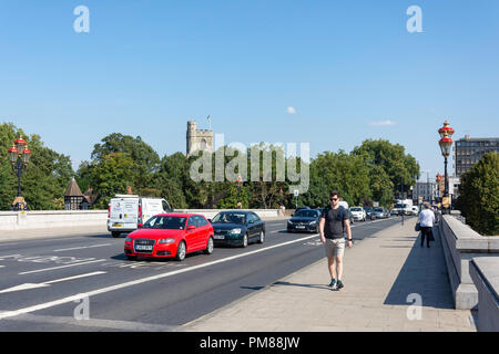 Putney Bridge Approach, Putney, London Borough of Wandsworth, Greater London, England, United Kingdom - Stock Image