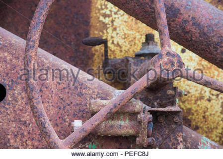 Antique gears and wheels. - Stock Image