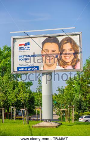 High advertisement billboard of the Koalicja - Stock Image