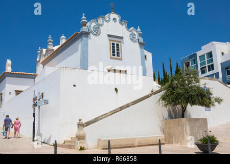 A view of the historic Igreja de Sant Ana in Albufeira, Portugal. - Stock Image